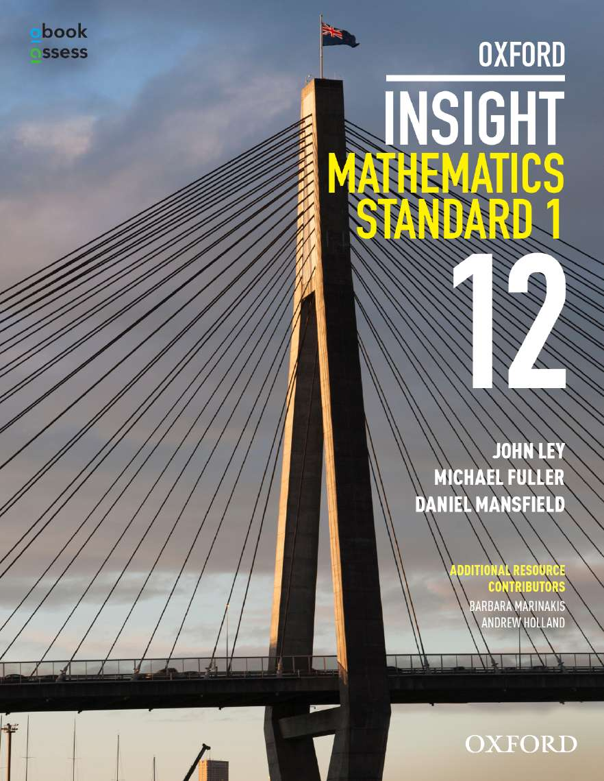 Oxford Insight Mathematics Standard 1 Year 12 Student book + obook assess