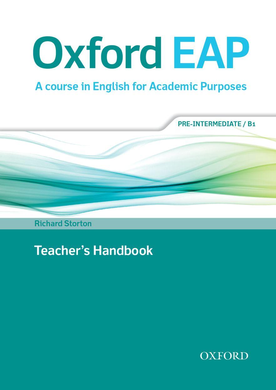 Oxford EAP Pre-intermediate Teachers Book & DVD Pack