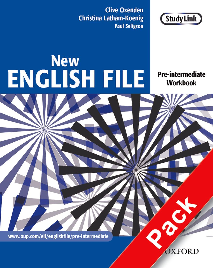 New English File Pre-Intermediate Workbook with Answer Booklet & Multirom Pack