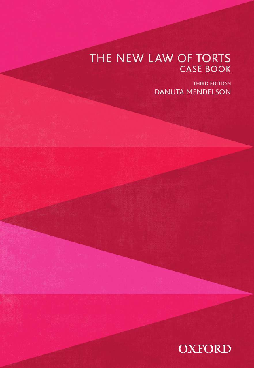 The New Law of Torts Case Book