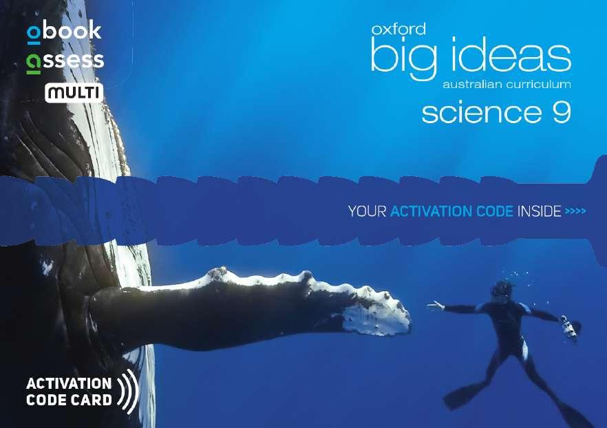 Oxford Big Ideas Science 9 AC Student obook assess MULTI (code card)