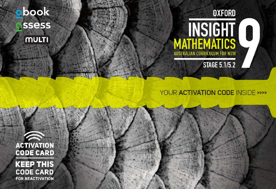 Oxford Insight Mathematics 9 5.1/5.2 AC for NSW obook assess MULTI code card