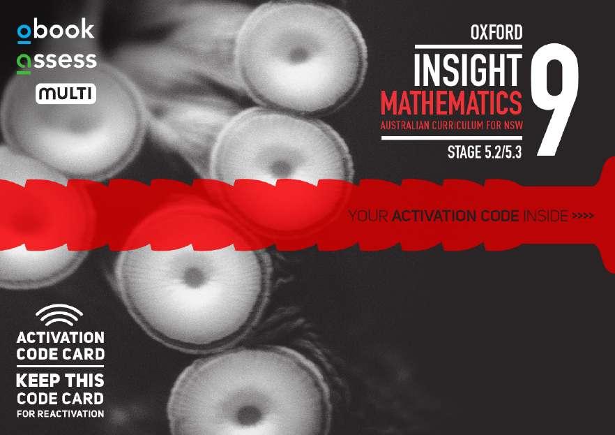 Oxford Insight Mathematics 9 5.2/5.3AC NSW Student obook assess MULTI(code card)