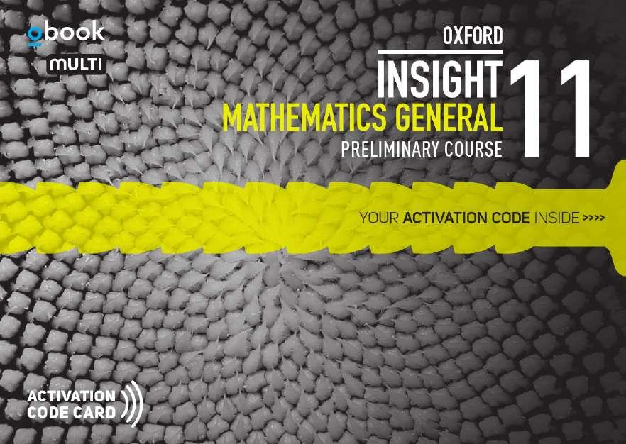 Oxford Insight Mathematics General Prelim Student obook assess MULTI (code card)