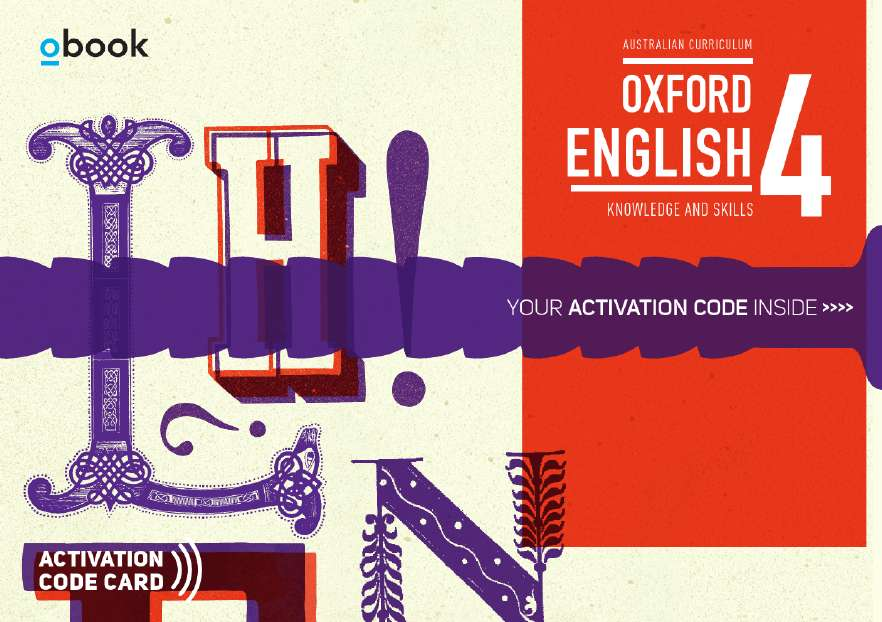 Oxford English 4 Knowledge and Skills Australian Curriculum Student obook assess