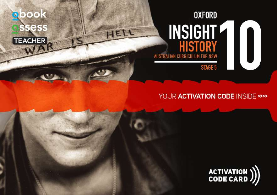 Oxford Insight History 10 AC for NSW Teacher obook assess (code card)