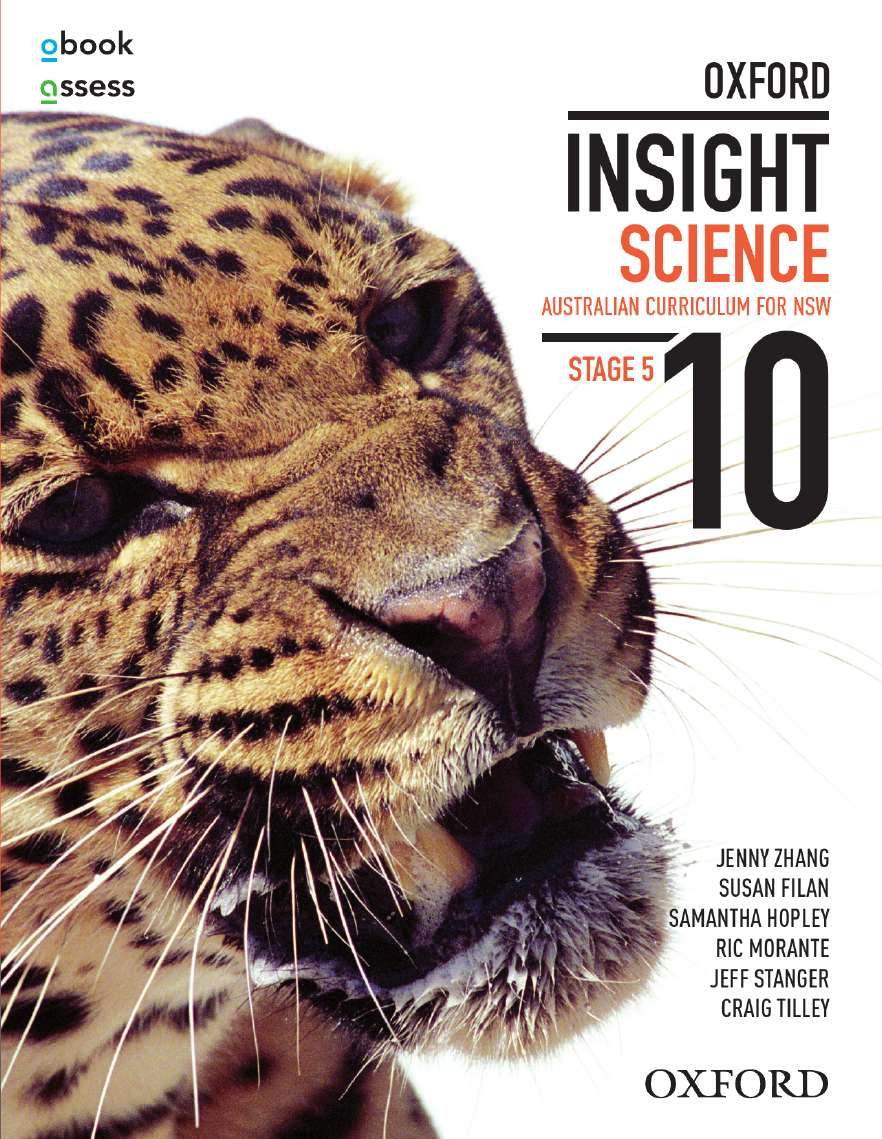 Oxford Insight Science 10 AC for NSW Student book + obook assess
