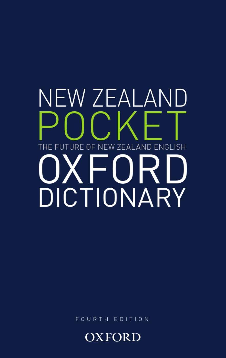 The New Zealand Pocket Oxford Dictionary