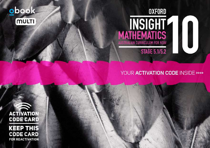 Oxford Insight Mathematics 10 5.1/5.2 AC for NSW obook MULTI code card