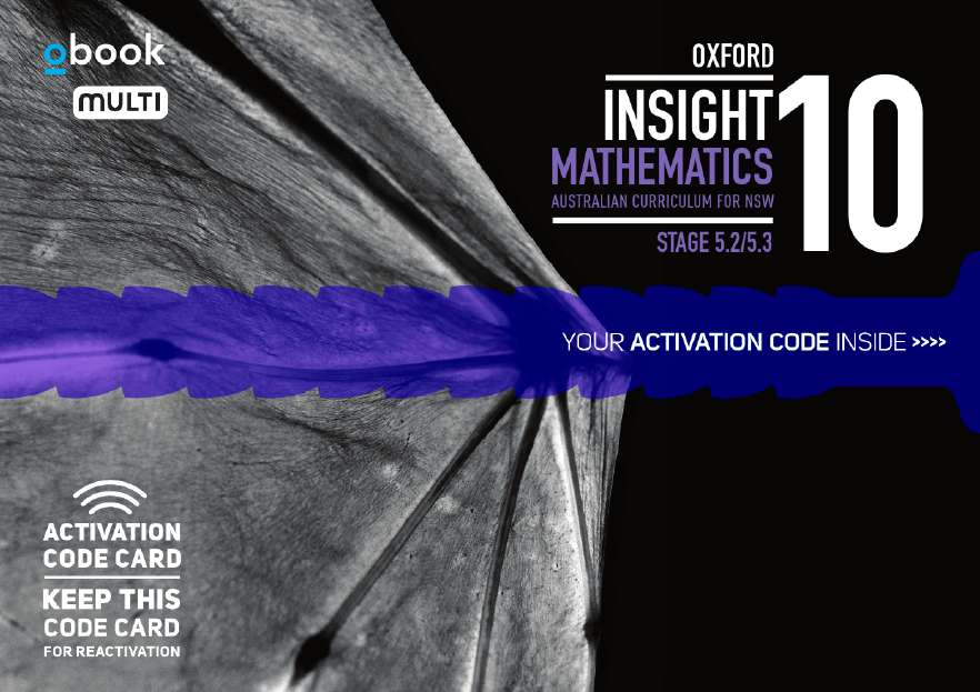 Oxford Insight Mathematics 10 5.2/5.3 AC for NSW obook MULTI code card