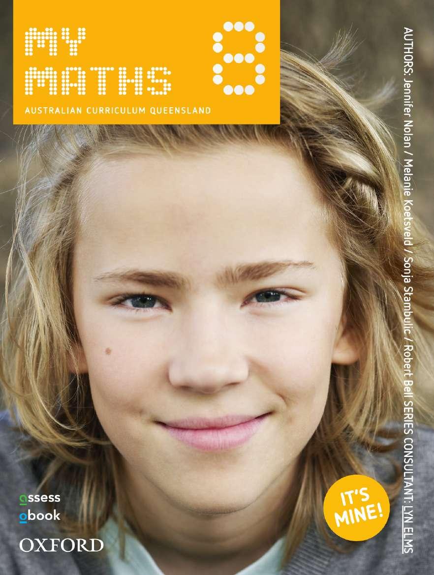 Oxford MyMaths 8 Australian Curriculum Queensland Student book + obook assess