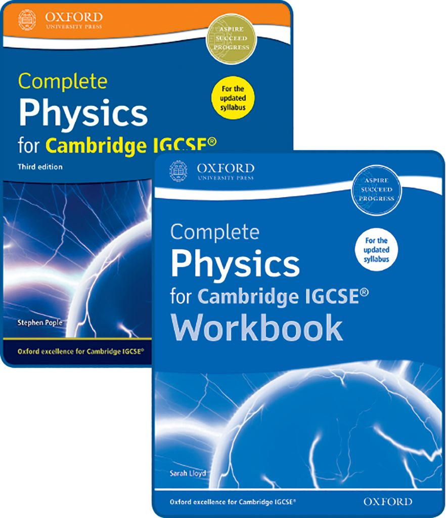 Complete Physics for Cambridge IGCSE Student Book & Workbook Pack