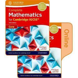 Complete Mathematics for Cambridge IGCSERG Student Book (Core)