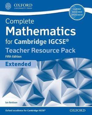 Complete Mathematics for Cambridge IGCSE Teacher Resource Pack (Extended)