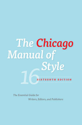 Chicago Manual of Style, 16ed