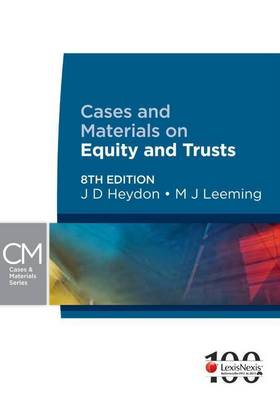 Cases & Materials on Equity & Trusts - 8th Edition