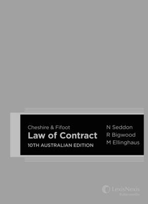 Cheshire & Fifoot Law of Contract, 10th Australian Edition (Paperback)