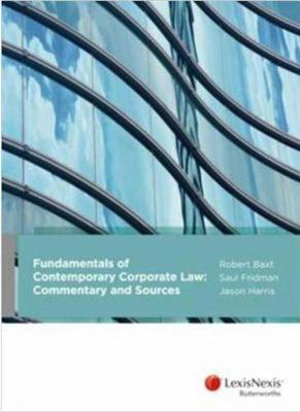 Fundamentals of Contemporary Corporate Law: Commentary and Sources
