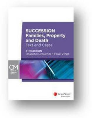 Succession Families, Property and Death 4th Edition