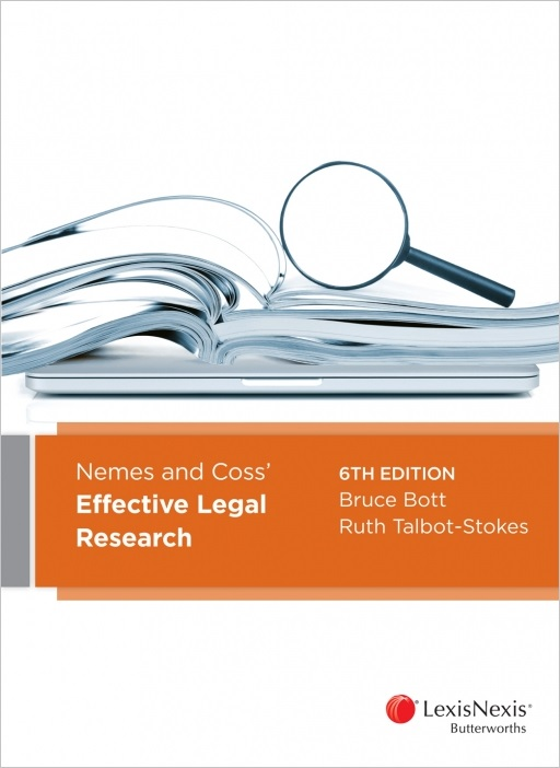 Nemes and Coss' Effective Legal Research, 6th edition