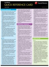 Quick Reference Card: International Law