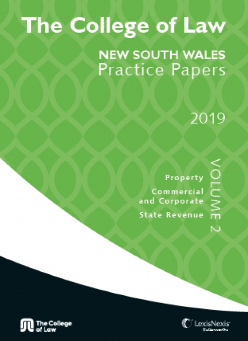 The College of Law NSW Practice Papers 2019 – Volume 2