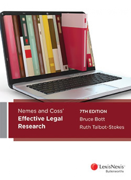 Nemes & Coss' Effective Legal Research, 7th edition