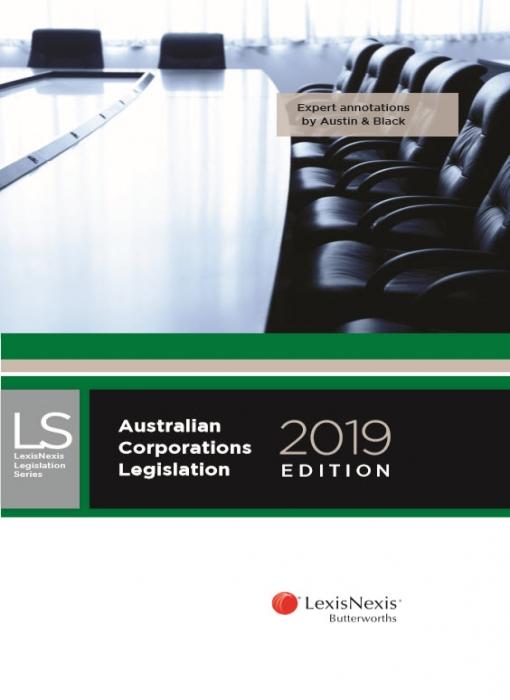 Australian Corporations Legislation, 2019 edition