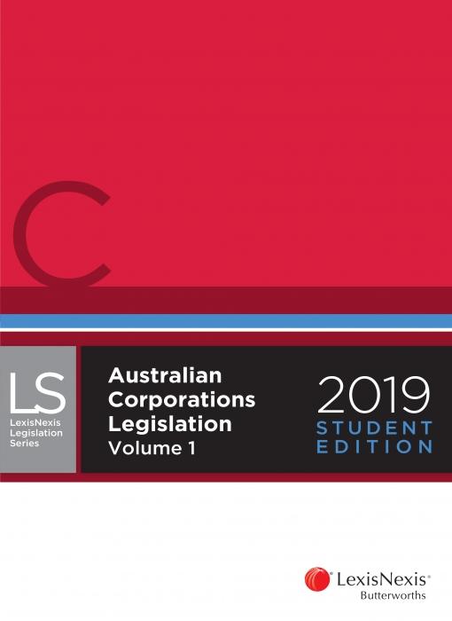 Australian Corporations Legislation 2019 Student Edition