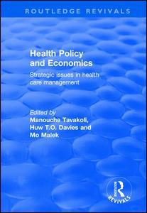 Health Policy and Economics