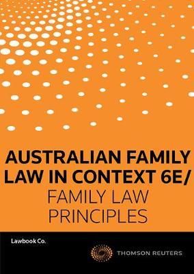 Family Law in Con 6e/Family Law Prin 2e