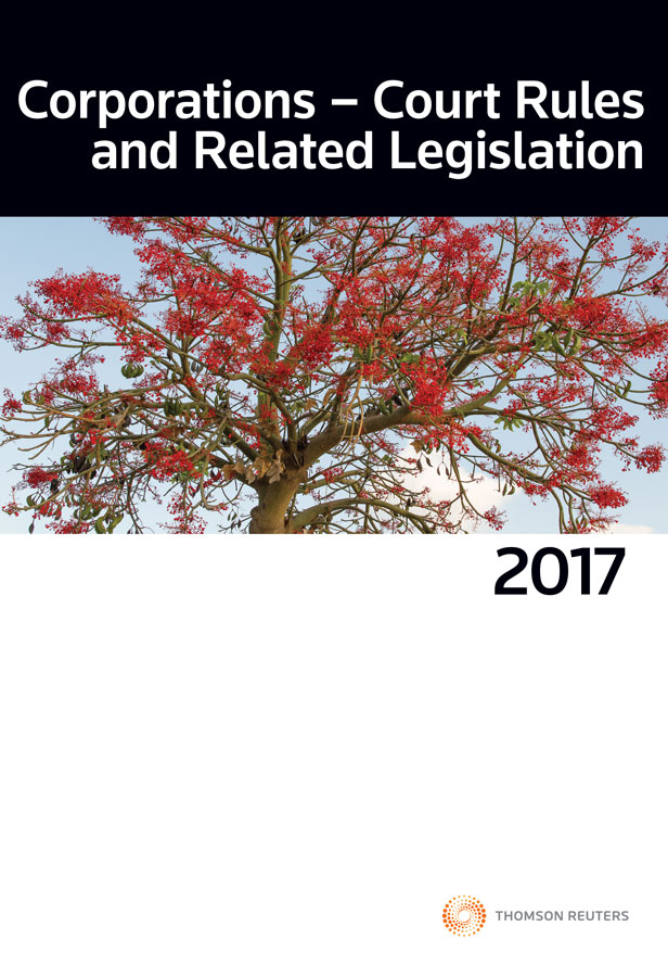 Corporations Court Rules and Related Legislation 2017