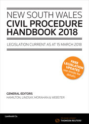 NSW Civil Procedure Handbook 2018