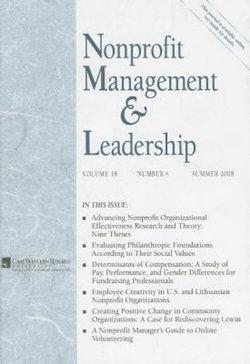 Nonprofit Management and Leadership, Volume 18, Number 4, Summer 2008