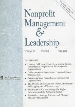 Nonprofit Management and Leadership, Volume 19, Number 1, Spring 2008