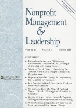 Nonprofit Management and Leadership, Volume 19 , Number 2, Winter 2008