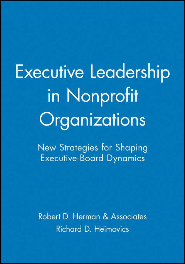 Executive Leadership in Nonprofit Organizations