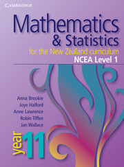 Mathematics and Statistics for the New Zealand Curriculum Year 11