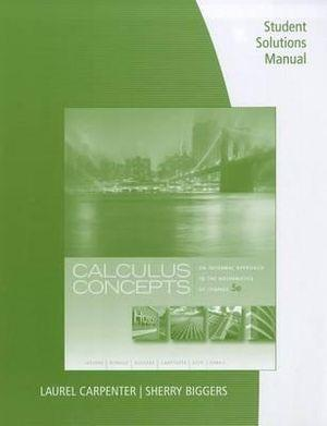 Student Solutions Manual for Calculus Concepts