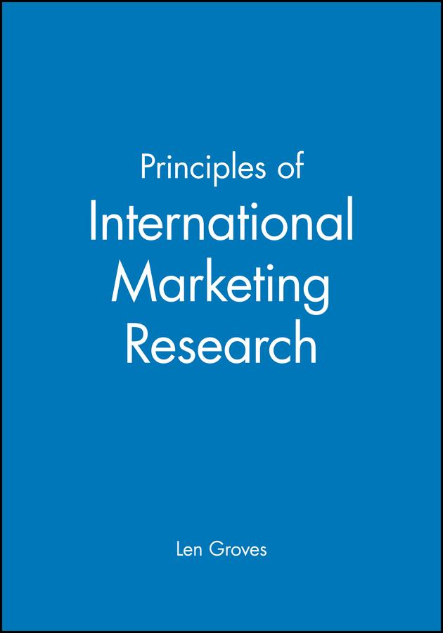 Principles of International Marketing Research