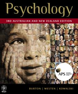 Psychology 3rd Australian and New Zealand Edition Istudy Version 1 Card