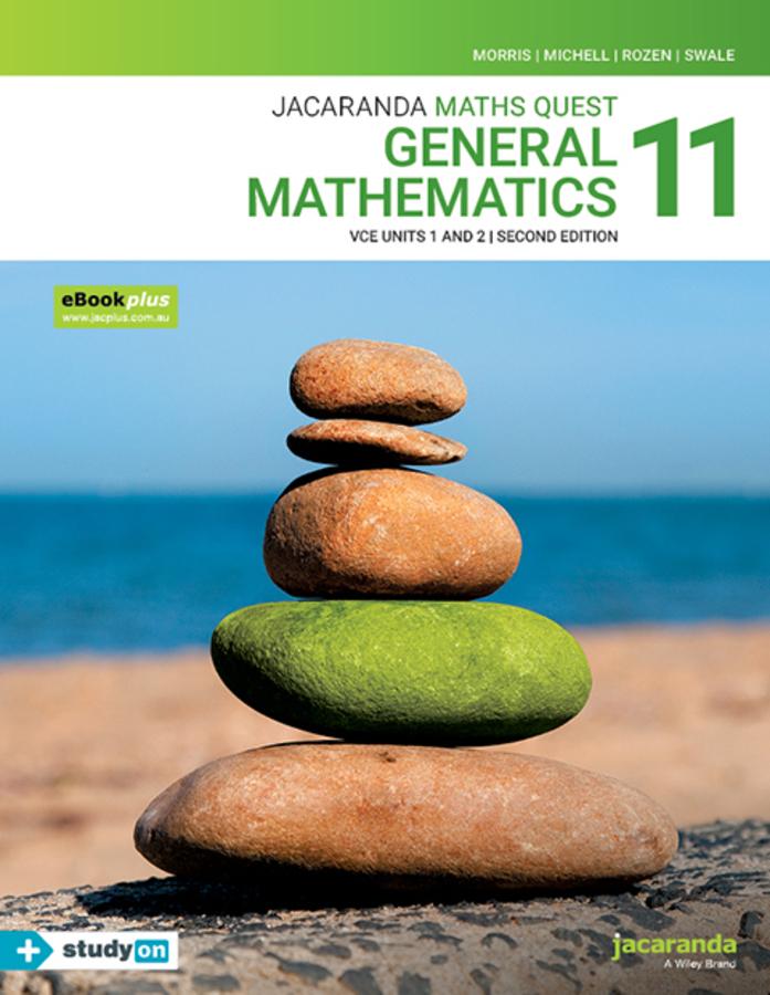 Jacaranda Maths Quest 11 General Mathematics VCE Units 1&2 2e eBookPLUS & Print + StudyON VCE General Mathematics Units 1&2 (Book Code)