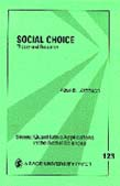 Social Choice: Theory and Research