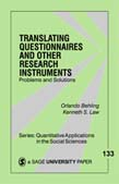 Translating Questionnaires and Other Research Instruments: Problems and Solutions