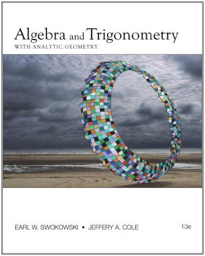 Algebra and Trigonometry with Analytic Geometry
