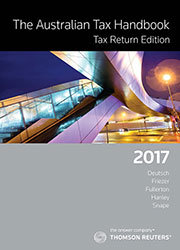 The Australian Tax Handbook Tax Return Edition 2017
