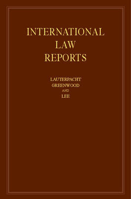 International Law Reports: Volume 158
