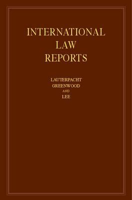 International Law Reports: Volume 160