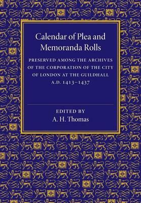 Calendar of Plea and Memoranda Rolls: AD 1413-1437