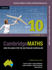 Cambridge Mathematics NSW Syllabus for the Australian Curriculum Year 10 5.1 and 5.2 Teacher Edition